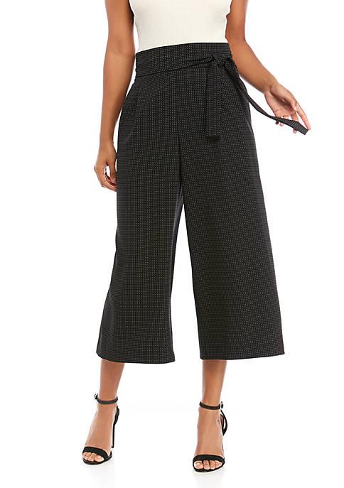 Dot Paperbag Waist Pants