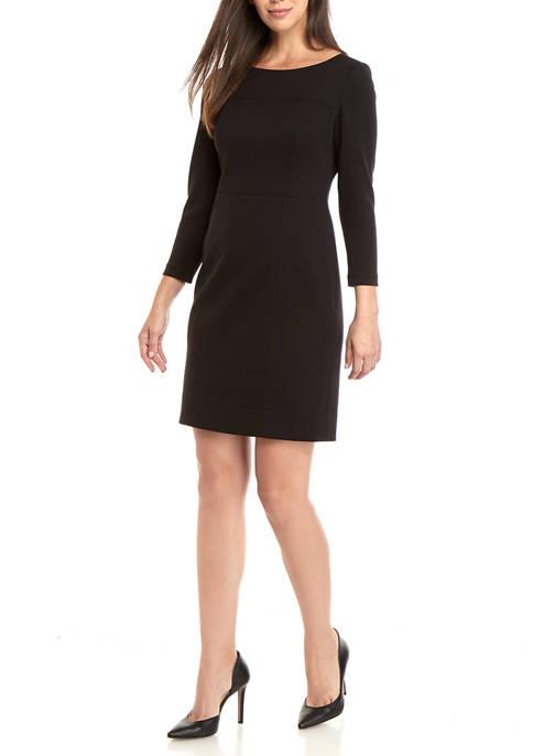 Womens Ponte Scuba Dress