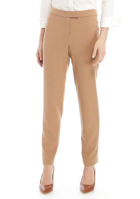 Anne Klein Womens Madison Crepe Pants
