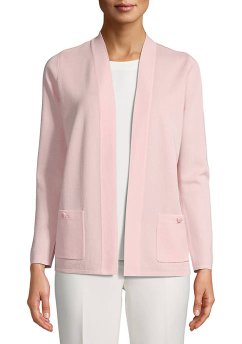 Anne Klein Womens Long Sleeve Malibu Cardigan