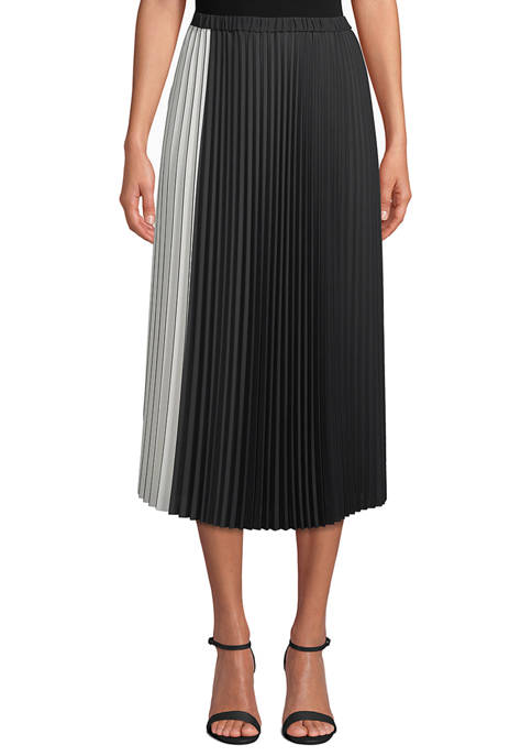 Anne Klein Womens Pleated Skirt