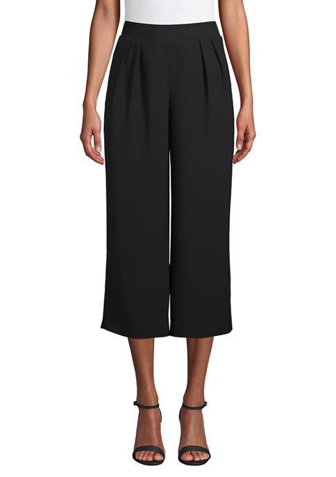 Anne Klein Womens Wide Leg Pull On Pants