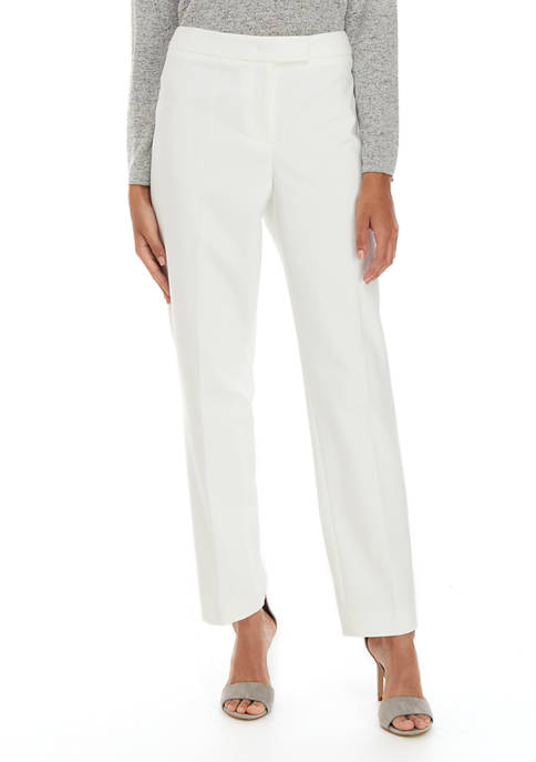 Anne Klein Womens Linen Pants