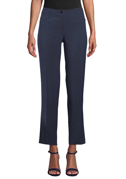 Anne Klein Womens Seersucker Pants