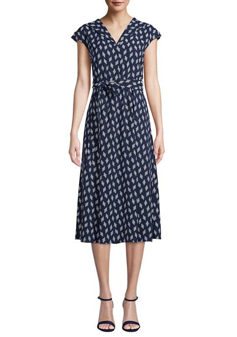 Womens Open Envelope Collar Dress
