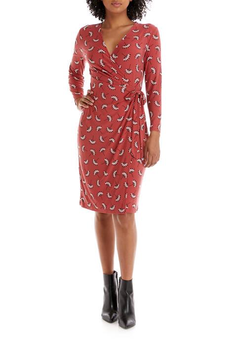 Womens Tango Printed Wrap Dress