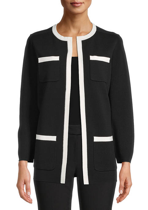 Womens Open Front Cardigan with Pockets