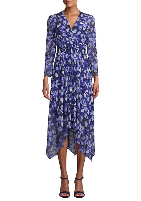 Anne Klein Womens V-Neck Dress