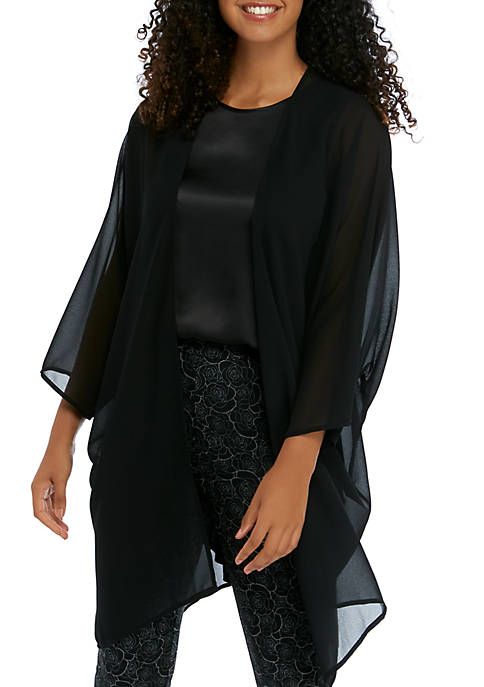 Side Slit Sheer Duster