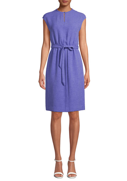 Anne Klein Womens Keyhole Pullover Dress