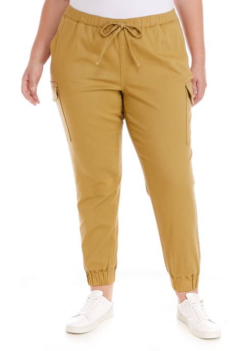 Almost Famous Plus Size Khaki Joggers