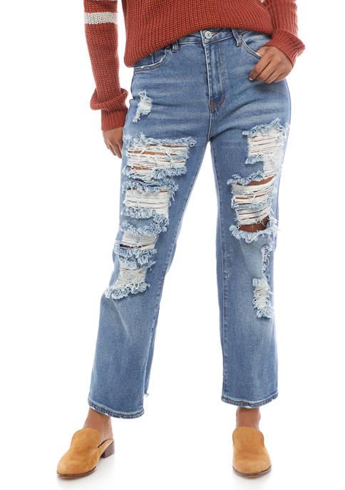 Almost Famous Juniors Destructured Dad Jeans
