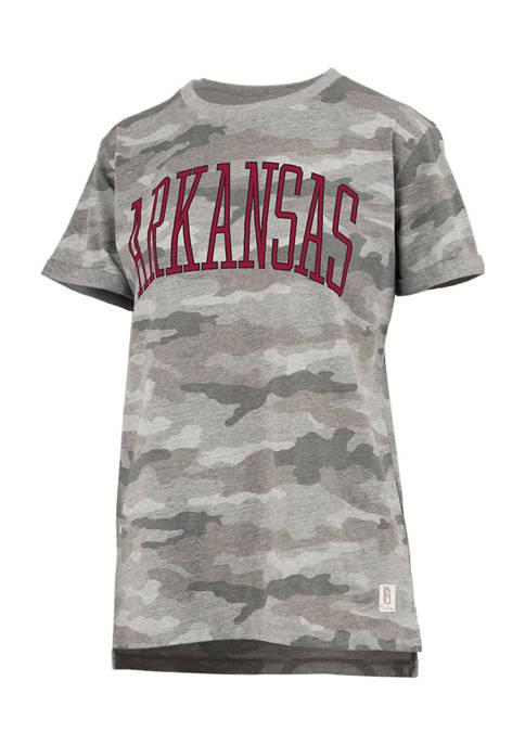 Womens NCAA Arkansas Razorbacks Camo T-Shirt