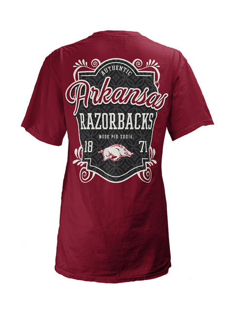 Pressbox Womens NCAA Arkansas Razorbacks Jubilee Jersey T-Shirt