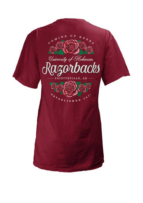 Pressbox Womens NCAA Arkansas Razorbacks Short Sleeve Graphic