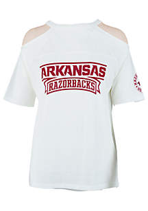 Arkansas Razorback Norris Cold Shoulder Tee