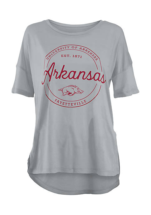 ROYCE Short Sleeve Arkansas Razorbacks Ella Seal Stretch