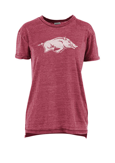 Pressbox Womens NCAA Arkansas Razorbacks Mercy Vintage Boyfriend