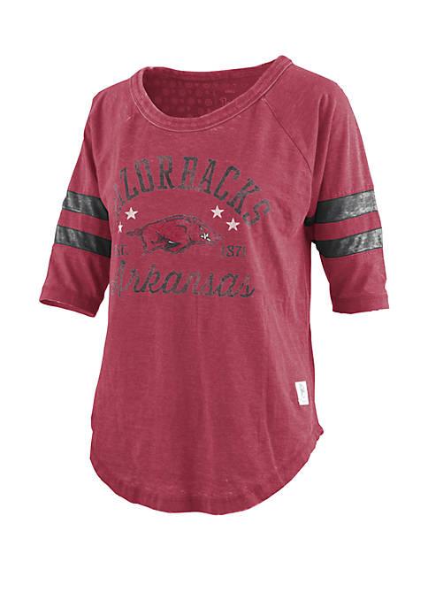 Arkansas Razorbacks Jade Vintage Wash Jersey T Shirt