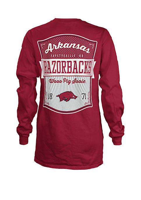 NCAA Arkansas Razorbacks Long Sleeve Campbell Medallion T-Shirt