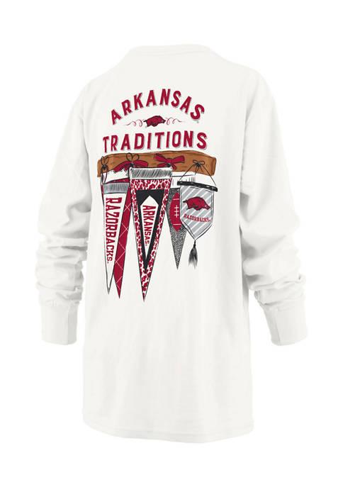 Womens NCAA Arkansas Razorbacks Long Sleeve Traditions T-Shirt