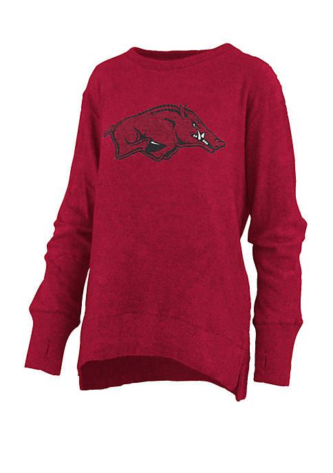 Womens NCAA Arkansas Razorbacks Fresno Cuddle Knit T-Shirt