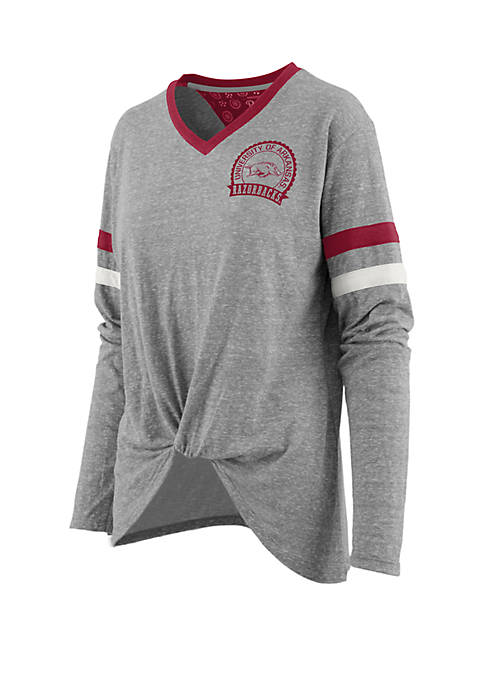 NCAA Arkansas Razorbacks Maple Long Sleeve Shirt with Knot