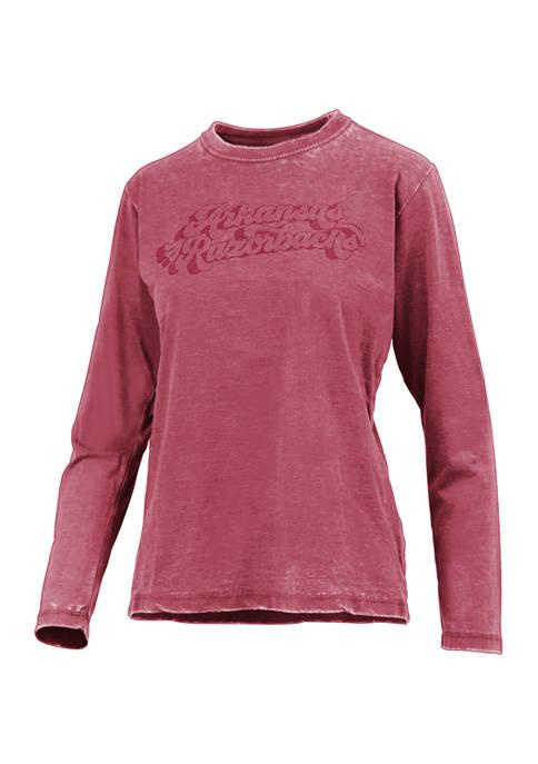 Pressbox NCAA Arkansas Razorbacks Long Sleeve Graphic T-Shirt