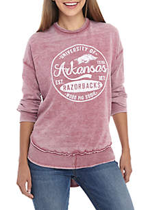 Arkansas Razorbacks Surfer Stamp High-Low Fleece Sweater