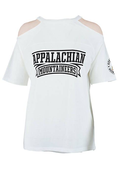ROYCE Appalachian State Mountaineers Norris Cold Shoulder Tee