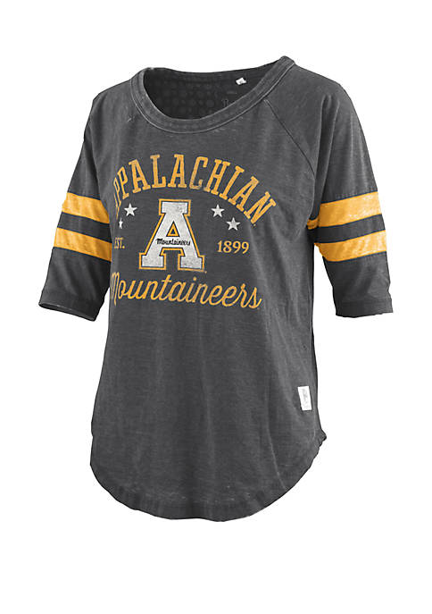 ROYCE Appalachian State Mountaineers Vintage Wash Jersey T