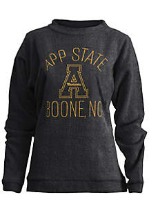 Appalachian State Mountaineers Thin Arch Mock Neck Twisted Terry Fleece Pullover