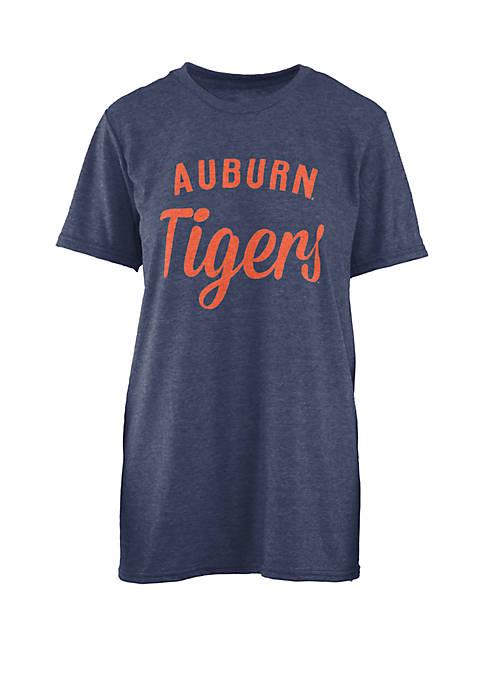 ROYCE Auburn Tigers Trudy Melange Crew T Shirt