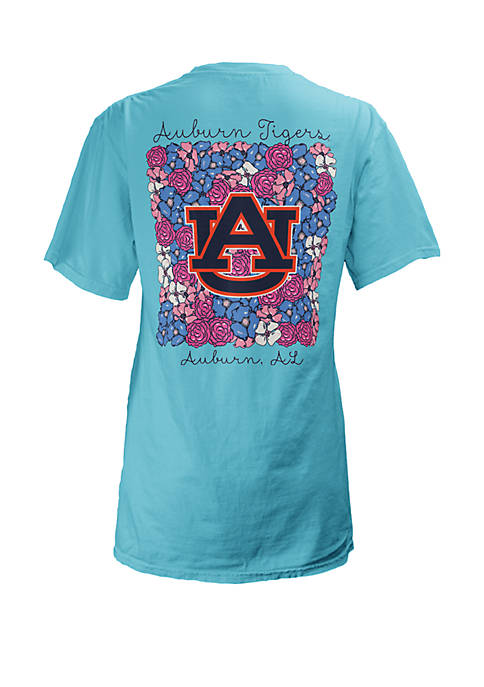 ROYCE Auburn Tigers Floral Bunch Coastal T Shirt