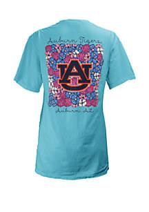 ROYCE Auburn Tigers Floral Bunch Coastal T Shirt