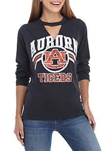 Auburn Tigers Crew Neck Choker Long Sleeve Tee