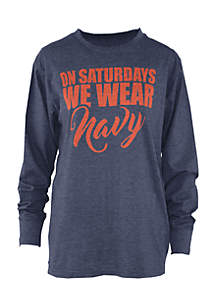Long Sleeve Auburn Saturday Colors Melange Crew Tee
