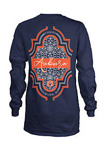 Long Sleeve Auburn Teagan Coastal Crew Tee
