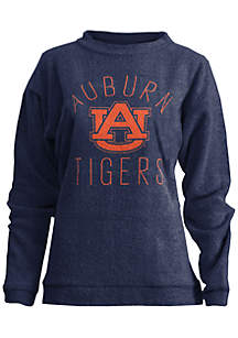 Auburn Tigers Thin Arch Mock Neck Twisted Terry Fleece Pullover