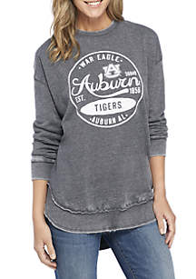 Auburn Tigers Surfer Stamp High-Low Fleece Sweater
