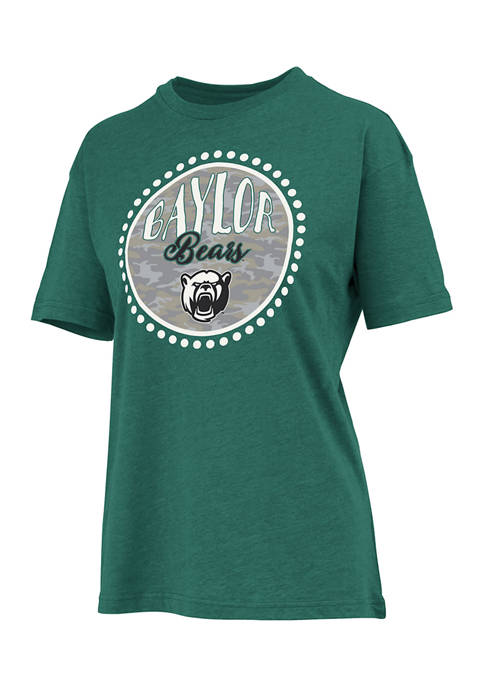 Womens NCAA Baylor Bears Curly Camo T-Shirt
