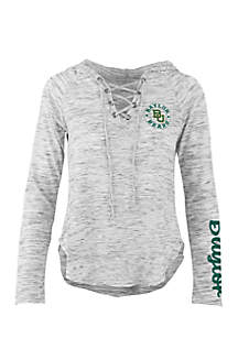 Long Sleeve Baylor Kate Lace Neck Hooded Tee