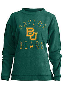 Baylor Bears Thin Arch Mock Neck Twisted Terry Fleece Pullover