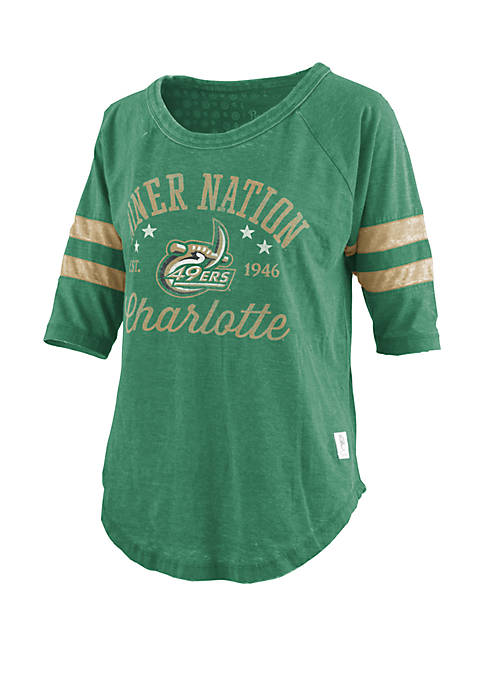 ROYCE Charlotte 49ers Vintage Wash Jersey T Shirt