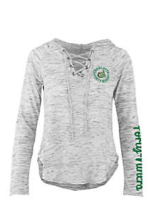 Long Sleeve UNC Charlotte Kate Lace Neck Hooded Tee