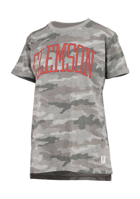 Womens NCAA Clemson Tigers Camo T-Shirt