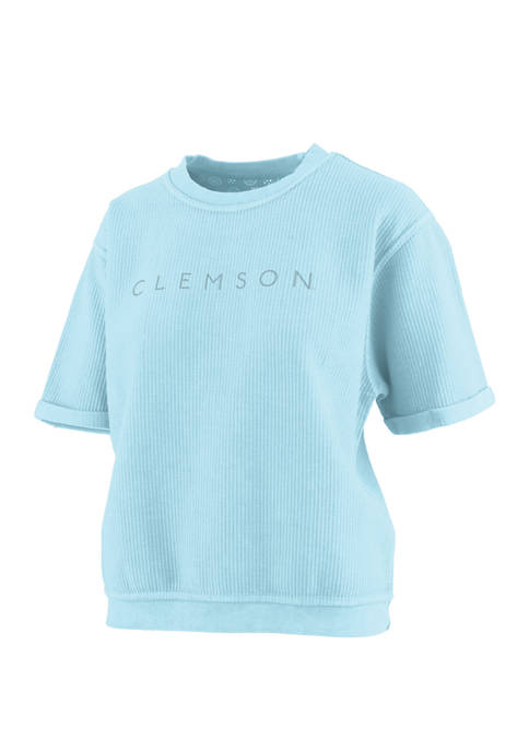 Pressbox NCAA Clemson Tigers Dempsey Cropped Graphic T-Shirt