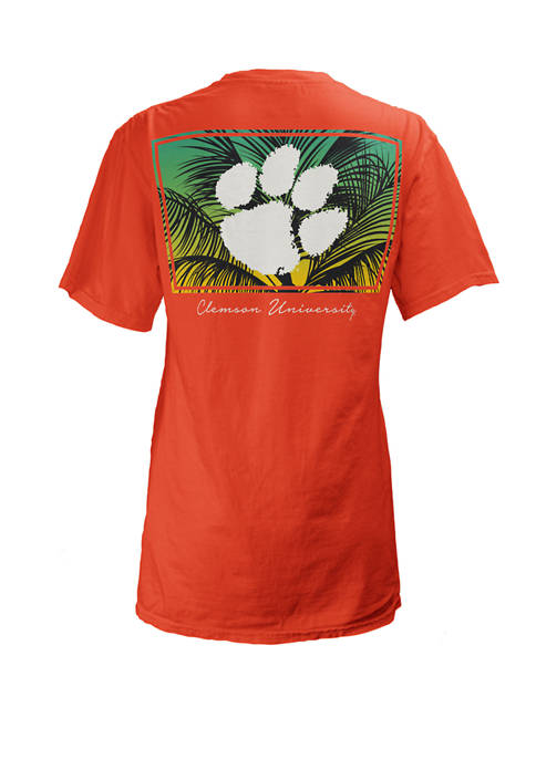 Pressbox NCAA Clemson Tigers Short Sleeve Nahla Palm