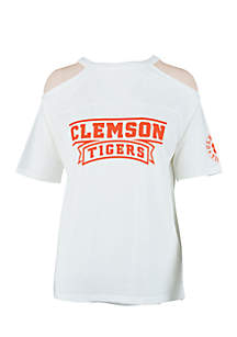 Clemson Tigers Norris Cold-Shoulder Tee