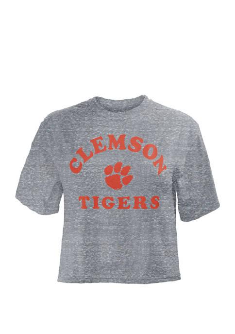 Pressbox NCAA Clemson Tigers Summer Camp Crop T-Shirt